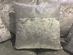 Beautiful Topbar disco glitter and silver crushed velvet scatter cushion