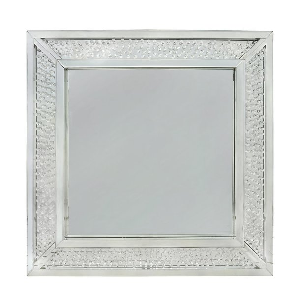 Crystal Wall Mirror beautiful floating crystal wall mirror - large | the glitter
