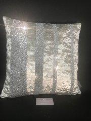 Stunning Barcode Crushed velvet & glitter scatter cushions - colour options