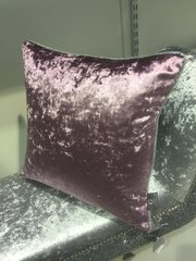 Stunning Amethyst velvet with silver disco glitter pipe scatter cushion