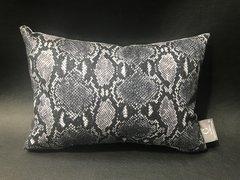Stunning glitter Claira Snake animal print black & white - scatter cushion
