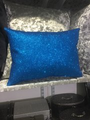 Beautiful bailey blue flat glitter scatter cushion