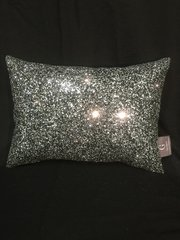 Beautiful Black/silver mix Claira scatter cushion - 14 x10 inch