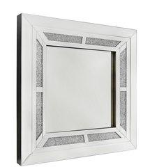 Beautiful crystal crackle wall mirror (60cm)