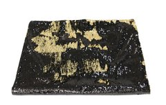 Beautiful black and gold mermaid sequin bed throw