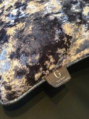 Stunning Lavender Lustro velvet and gunmetal glitter pipe scatter cushion