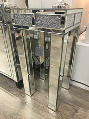 Beautiful crystal crackle crushed diamonds and mirror telephone table