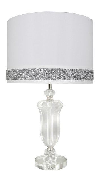Beautiful glass base table lamp with white crystal crackle shade beautiful glass base table lamp with white crystal crackle shade mozeypictures Gallery