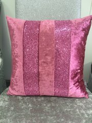 stunning crushed velvet Ava lipstick Pink cushion crackle glitter scatter cushion