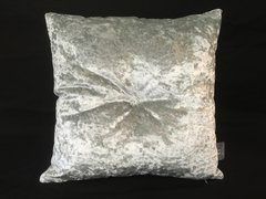 Stunning silver velvet Swarovski button scatter cushion