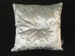 Stunning silver velvet Swarovski button scatter cushion
