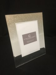 beautiful mirror and ombre gold glitter photo frame 4x6