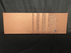stunning Copper faux leather - copper glitter  wall art - large