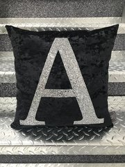 Beautiful Glitter Alphabet letter cushion range - all colour options