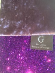 Luxury Amethyst crushed velvet with purple glitter wall art medium