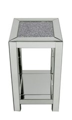 Stunning crushed sparkle mirror telephone table - large
