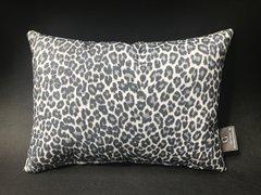 Stunning glitter Claira - Leopard black & white animal print - scatter cushion