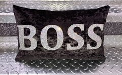 Beautiful BOSS Glitter & velvet cushion - colour options