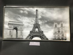 Paris glitter picture  wall art picture - framed