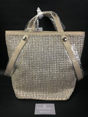Beautiful Alex Max® Beige/gold glitter large handbag