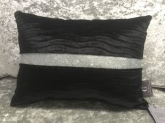 Stunning Lucille black wave scatter cushion with disco glitter
