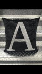 Beautiful Glitter Alphabet letter cushion range - colour options