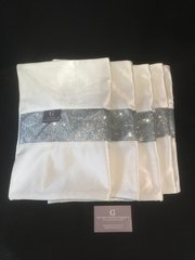 Stunning white Ice table runner with disco glitter