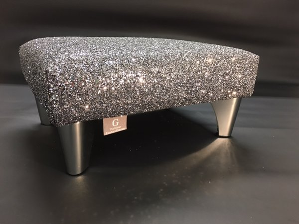 Grey Glitter Glitter Furniture Glitter Fabric