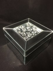 Stunning mini floating crystal and mirror jewellery box