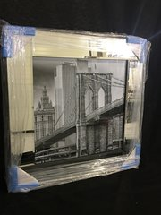 Sparkle liquid art bridge with mirror frame