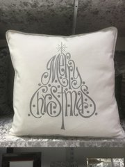 Merry christmas silver scatter cushion