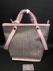 Beautiful Alex Max® Pink glitter handbag - large