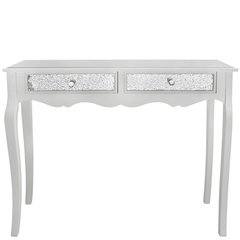 Beautiful mosaic & mirror console table - white wood collection
