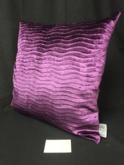 Beautiful wave purple velvet scatter cushions