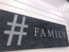 Hashtag Family glitter & velvet wall art - colour options