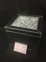 Stunning mirror and crystal jewellery box