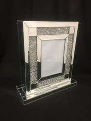 Stunning Diamond crush mirror photo frame stand 5x7