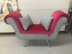 Stunning velvet & glitter mini chaise - colour options