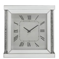Stunning Magna collection crystal and mirror wall clock