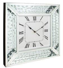 beautiful floating crystal and mirror wall clock