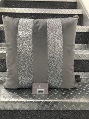 Stunning soft touch velvet and glitter Ava scatter cushion - colour options