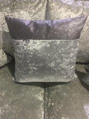 Stunning Top bar gunmetal grey velvet with gunmetal grey glitter scatter cushion