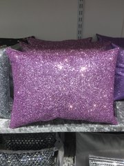 Stunning Claira soft pink/lilac crackle scatter cushion 14x10inch