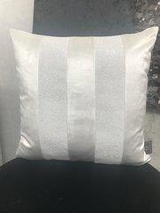 stunning Ava white velvet - white opal glitter scatter cushion