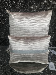 colour camel wave velvet with silver disco glitter scatter set of 2