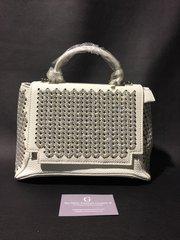 Stunning Alex Max® White & silver glitter mini handbag