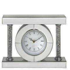 Stunning Magna collection mirror and crystal table clock