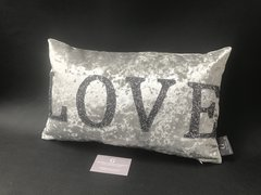 Stunning LOVE cushion glitter & velvet - colour options