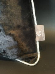 Stunning black crushed velvet with silver Disco glitter pipe scatter cushion