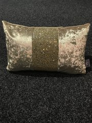 Beautiful middle bar chartreuse gold - gold glitter cushion